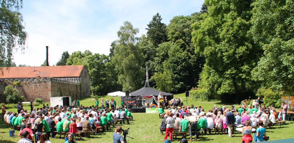 Beim ersten Fest der Kulturen im Jahr 2013 war einiges los im Wächtersbacher Schlosspark